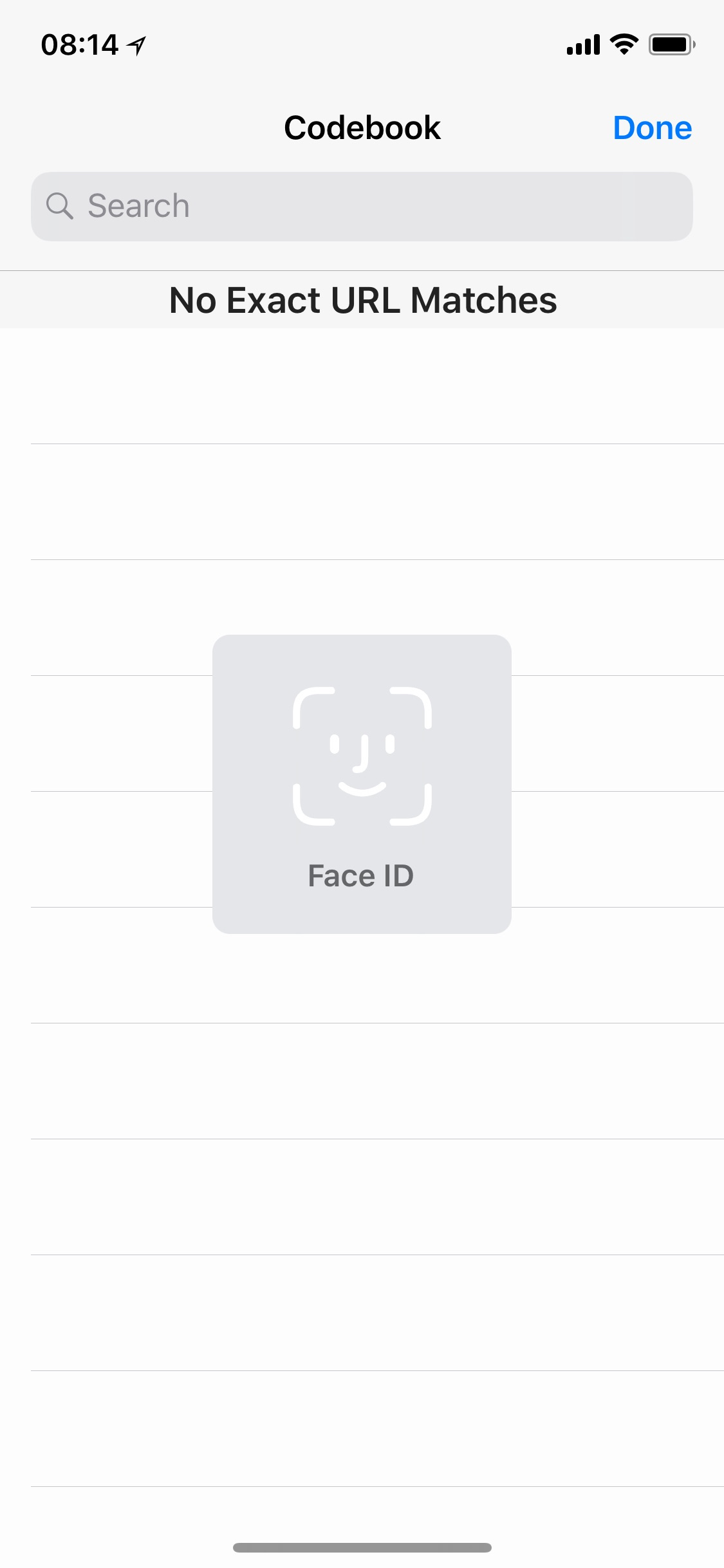 Face ID prompt