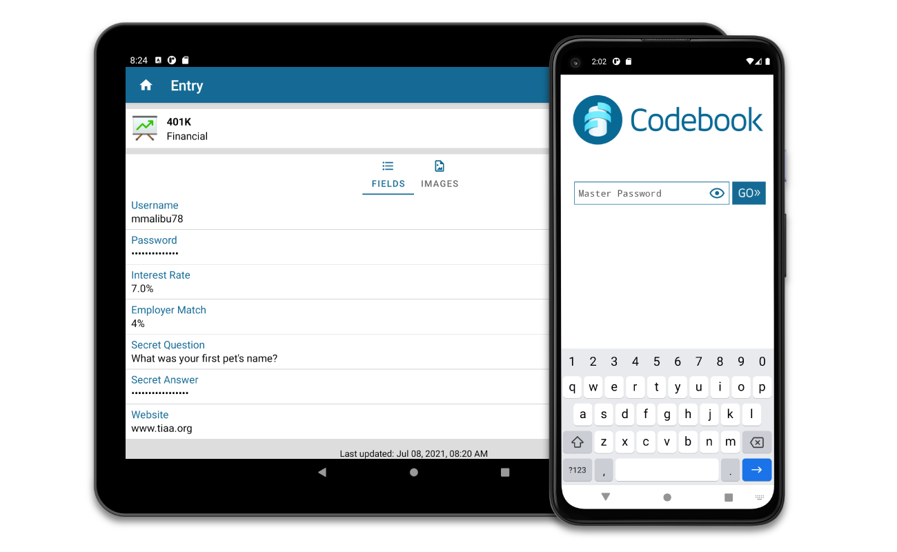 Codebook Password Manager and Data Vault - Zetetic