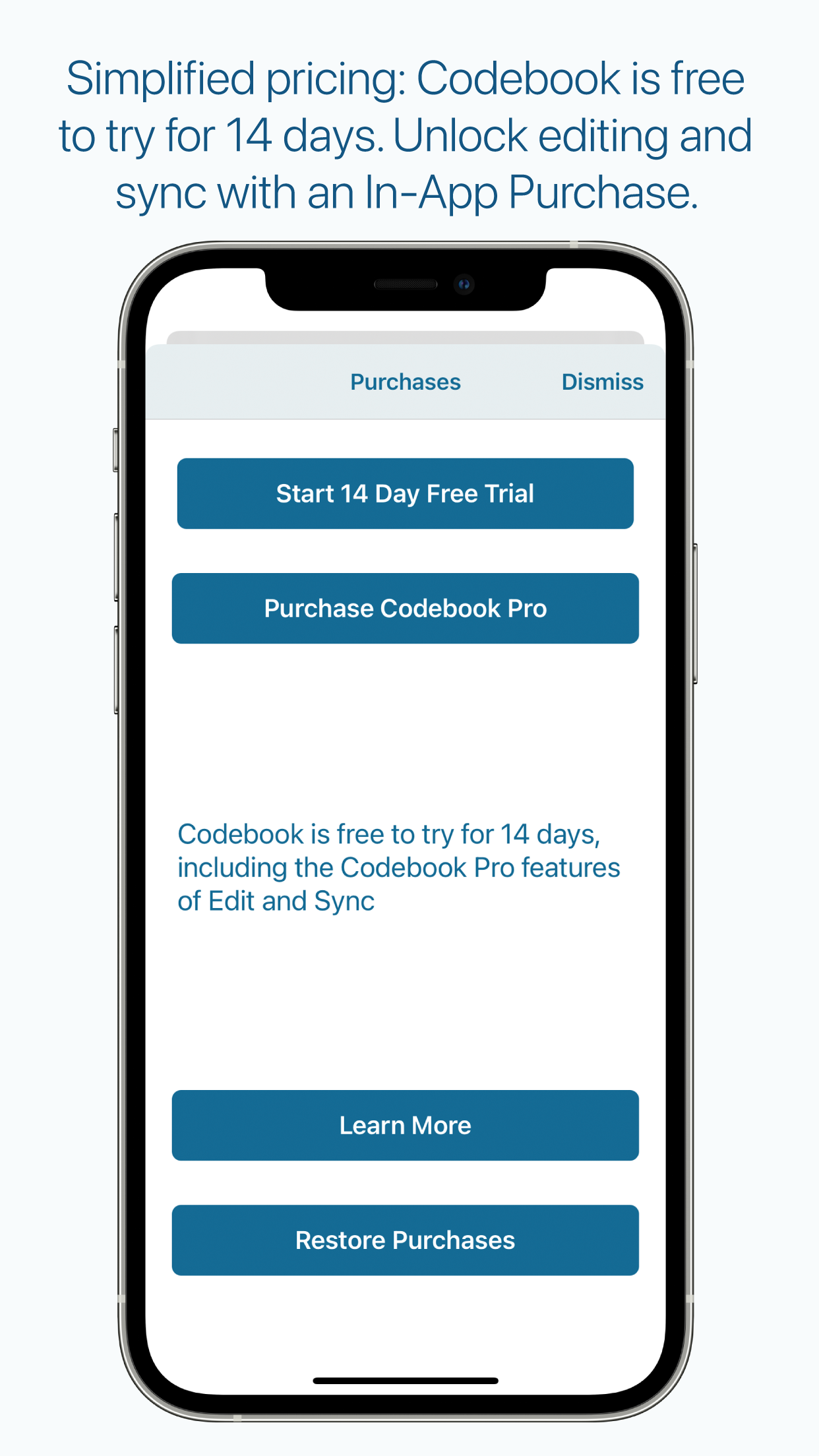 Purchase Codebook Pro