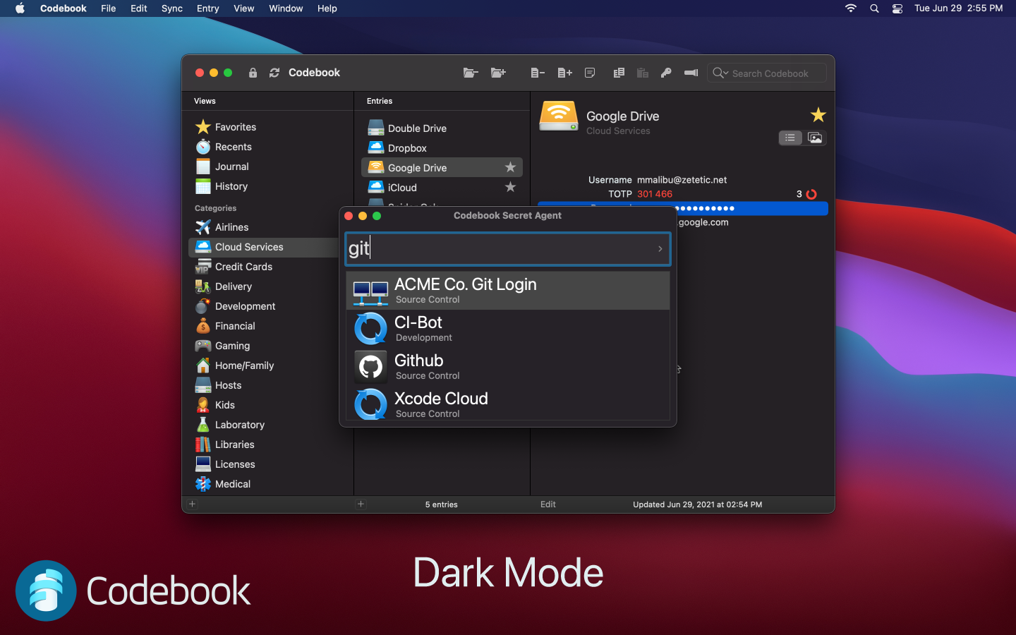 Dark Mode screenshot