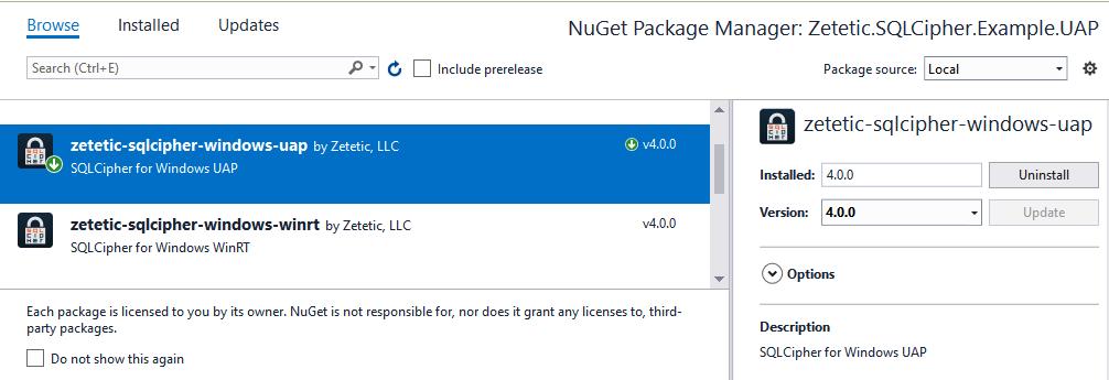 SQLCipher for  NET - Full Database Encryption for Windows